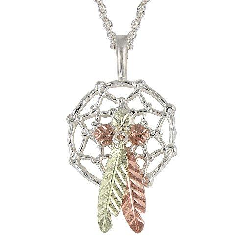 Black Hills Dreamcatcher Pendant Necklace in Sterling Silver