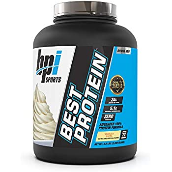 BPI Sports Best Protein - 100% Whey Protein Blend - Muscle Growth, Recovery, Meal Replacement - No Maltodextrin, No Fillers - Gluten Free - For Men & Women - Vanilla Swirl - 5 Pounds