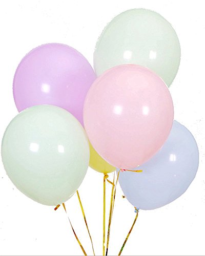 Easter Balloon - Elecrainbow 100 Pack 10 Inch 2.2 g/pc Thicken Macaron Color Balloons - Assorted Candy Color Balloons for Party, Birthday, Wedding Supplies and Decorations