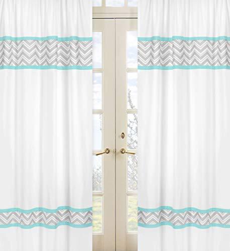 Sweet Jojo Designs 2 Piece Turquoise And Gray Chevron Zig Zag Window Treatment Panels Buy Online In Cayman Islands At Desertcart Com Productid 1508685
