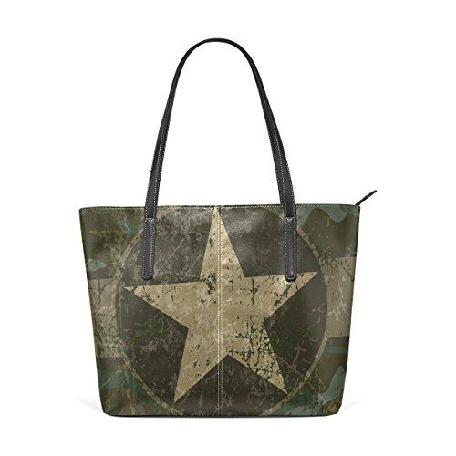 Per Borse Medio Muticolour Della A Tracolla Le E Donne Bag Sfondo Militare Tote Coosun Borsa Cuoio Z8PP6a