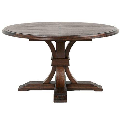 Amazon Com Devon Round Extension Dining Table Rustic