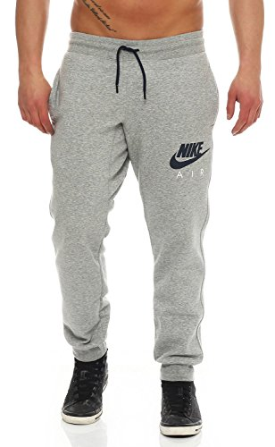 Nike+Air+Mens+Fleece+Jog+Pants+Slim+Fit+Sweatpants+Fleece+Black%2FGrey+727369+%28L%2C+Grey%29