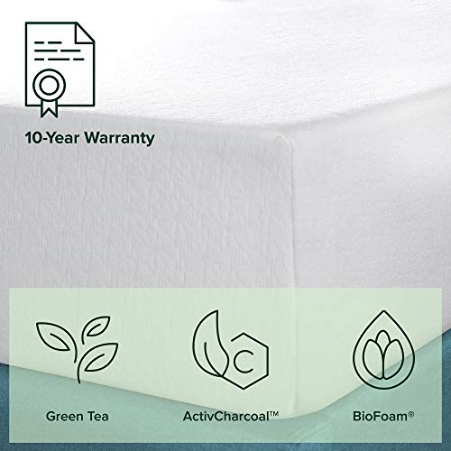 Zinus 12 Inch Green Tea Memory Foam Mattress / CertiPUR-US Certified / Bed-in-a-Box / Pressure Relieving, Queen