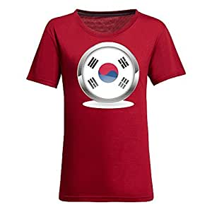 Custom 2014 FIFA World Cup Womens Cotton Short Sleeve Round Neck T-shirts for Football Fans Images red