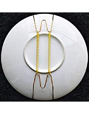 """Invisible Wall Plate Hanger, Pack of 5 Tray Display Hanger, 8'' to 16'' Wire Expandable Dish Holders for 7.8"""" to 16.5"""" Decorative Tray (8'')"""