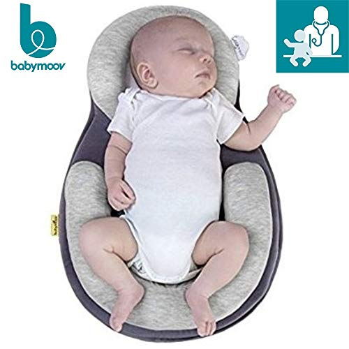 Babymoov Cosydream Premium Newborn Lounger | Ultra-Comfortable Osteopath Designed Nest for Babies (Safest Infant Co Sleeper) (Baby Portable Bed)