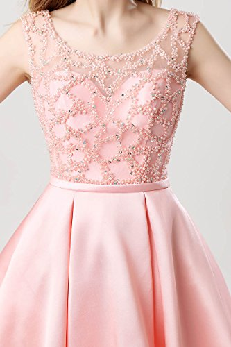 Lx439 Homecoming for Prom pink Ball Gown Belle Line Short s House A Dress Juniors Beading Women waf6qA