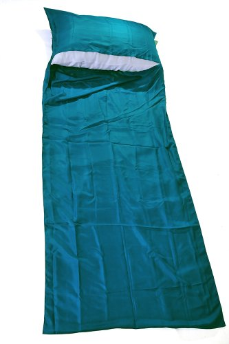 Marycrafts 100% Pure Mulberry Silk Single Sleeping Bag Liner Travel Sheet Sleepsack 83