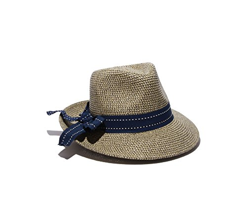 physician-endorsed-womens-rich-pitch-fedora-packable-sun-hat-with-ribbon-rated-upf-50-navy-tweed-one
