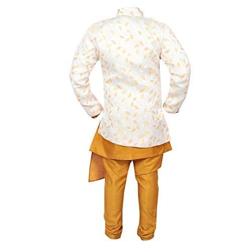 41PulH8balL. SS500  - Ahhaaaa Kids Ethnic Wear Kurta Pyjama Waistcoat Set For Boys