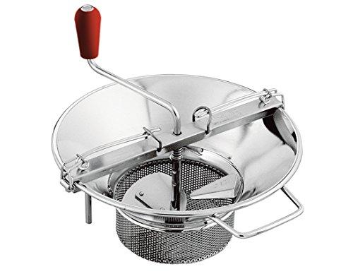 Mouli Food Mill (Tomato Strainer / Crusher) # M5, Tinned Steel, 8 Qt. Capacity