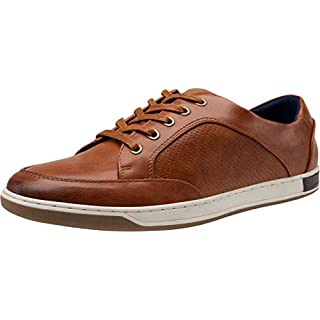 VOSTEY Men's Casual Shoes for Men Brown Dress Sneakers Fashion Sneaker Oxfords (10,red Brown)