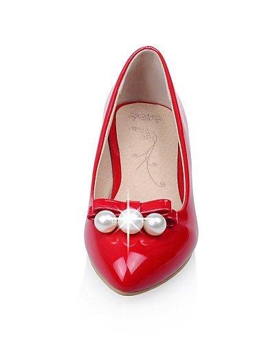 punta Casual Piatto Vernice Rosso A Ballerine Donna Bianco Scarpe Nero Tacchi Black ShangYi Fqn0Y1a0