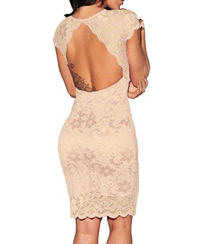 Lace Overlay Mini Dress (M, Cream) C21271CRM (Juniors Cream)