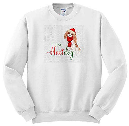 Doreen Erhardt Christmas Collection - Cute Cavalier King Charles Spaniel in a Santa Hat for Christmas - Sweatshirts - Youth Sweatshirt Med(10-12) ()