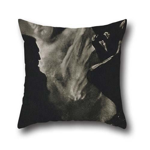 Edward Club Chair (Pillowcover Of Oil Painting Edward Steichen - Rodin--Le Penseur,for Deck Chair,christmas,saloon,car,festival,club 18 X 18 Inch / 45 By 45 Cm(2 Sides))