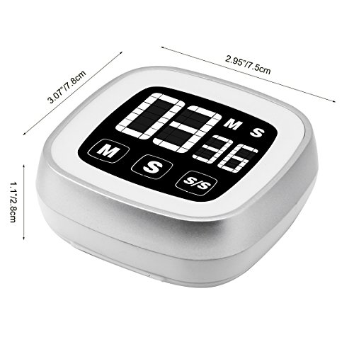 Novelty Touch Screen Digital Kitchen Timer Large Display Loud Alarm Magnetic Back Stand