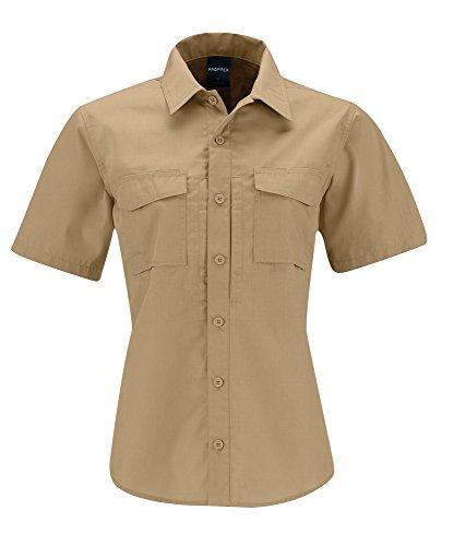 Propper Women's REVTAC Short Sleeve Shirt, Khaki, Small