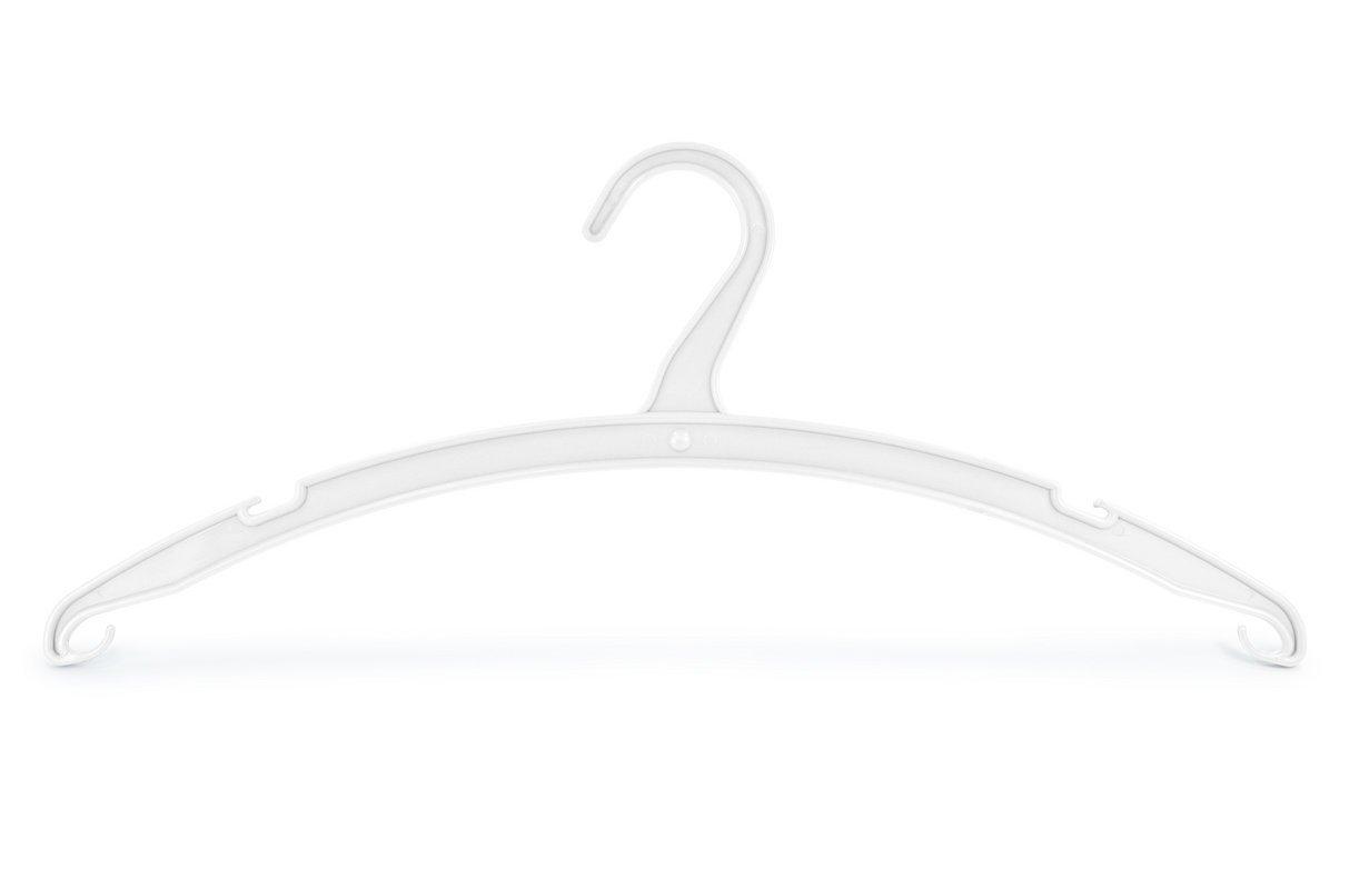 15 St/ück g/ünstig ohne Hosensteg ASIS nettrade Kleiderb/ügel aus Kunststoff Farbe: Wei/ß