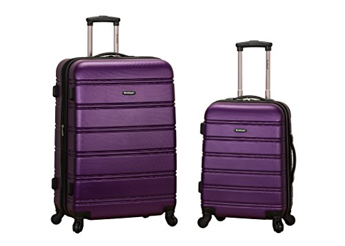 [Rockland Luggage 20 Inch 28 Inch 2 Piece Expandable Spinner Set, Purple, One Size] (20