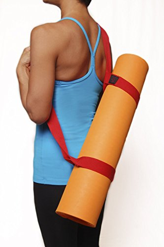 """Clever Yoga Mat Strap Sling Made With The Best, Durable Cotton - Comes With Our Special """"Namaste"""" (Gray)"""