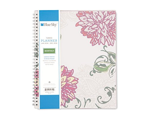 """Blue Sky 2018 Weekly & Monthly Planner, Twin-Wire Binding, 8"""" x 10"""", Dahlia -  Blue Sky the Color of Imagination, LLC, 101711"""