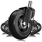 Office Chair Wheels Black Replacement Rubber Chair