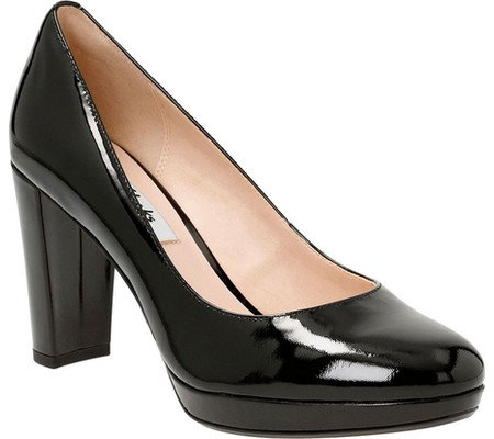Clarks Womens Kendra Sienna Pump,Black Patent Leather,US 6.5 M by CLARKS