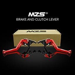MZS Adjustment Brake Clutch Levers for Suzuki Hayabusa/GSXR1300 2008-2017-Red