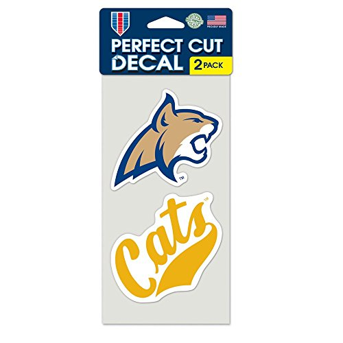 WinCraft NCAA Montana State Perfect Cut Decal (Set of 2), 4
