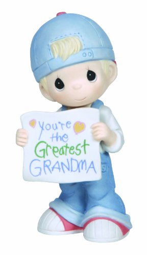 (Precious Moments,  You're The Greatest Grandma, Bisque Porcelain Figurine, Boy, 133034)