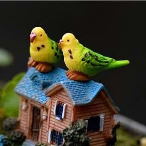 3pcs Mini resina Parrot Diy musgo Micro landscapedecoration jardín maceta de flores Plant Decor