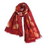 Scarfand's Romantic Heart Thin Fashion Shawl Scarf or Head Wrap (Red)