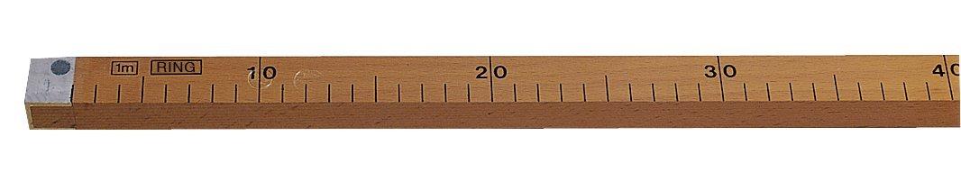 Metrica 22071 R/ègle droite bois 1 m
