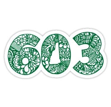 - NH_603_GRN - Sticker Graphic Bumper Window Sicker Decal - State Love Sticker