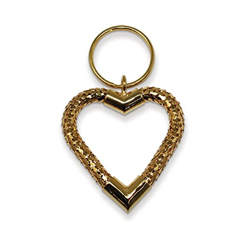 Jewelry Adviser Gifts Large Heart Gold-tone Mesh Keychain