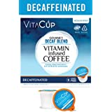 VitaCup Decaf Coffee K Pods 16 Ct. Infused With Essential Vitamins B12, B9, B6, B5, B1, and D3, Single Serve Keurig Compatible Top Rated Cups