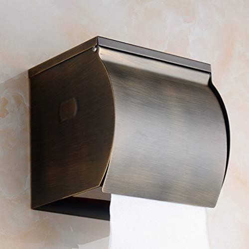 ShiSyan ティッシュホルダー ヨーロッパのアンティークのティッシュボックス紙タオルホルダーグリーンブロンズバスルームロール紙、(12.5 * 12 * 12.5センチメートル) デザイン