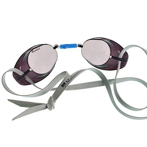 Malmsten AB Original Swedish Mirrored Swim Goggles Silver