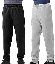 TEXFIT 2-Pack 8-16yrs Boys' Jogger Pants, Fleece Sweatpants (2pcs
