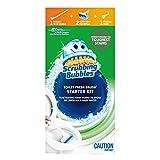 Scrubbing Bubbles Fresh Brush Toilet Cleaning System, Starter Kit, 1 Handle, 2 Heavy Duty Pad Refills, 1 Storage Hook