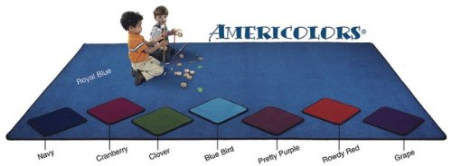 Flagship Carpets AS-76BB Americolors Collection 12' x 15' Rectangle, Solid Blue Bird Colored Carpet, Double Stitched, Serged Edges, Made in USA