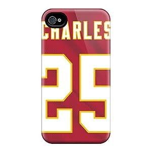 Durable Cell-phone Hard Covers For Iphone 4/4s (zxT12986ajiX) Custom Beautiful Kansas City Chiefs Skin