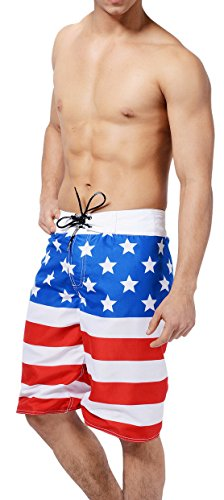 MZIMK-Mens-American-Flag-Shorts-Board-Shorts-Trunks-Beach-Swimwear-Swimsuits