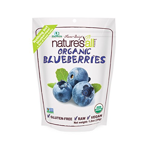 Natierra Nature's All Foods Freeze-Dried Blueberries, 1.2 Ounce