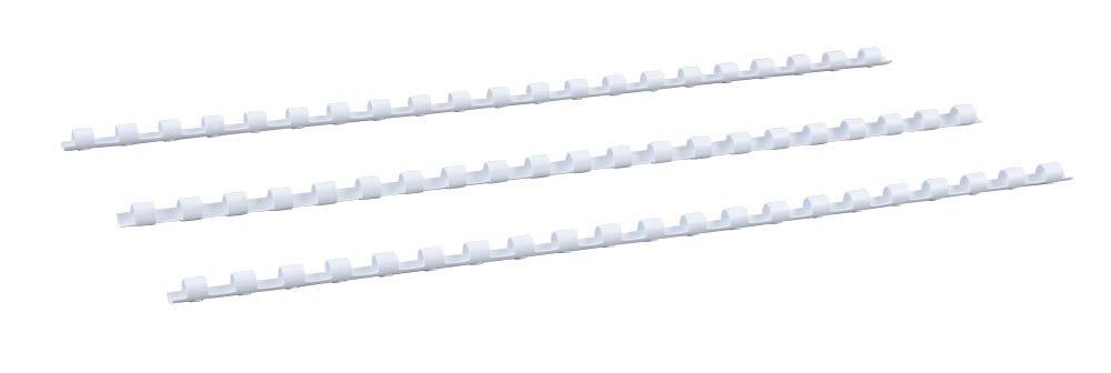 Durchmesser 6 mm schwarz 21 Ringe f/ür DIN A4 Renz Plastikbinder/ücken US-Teilung