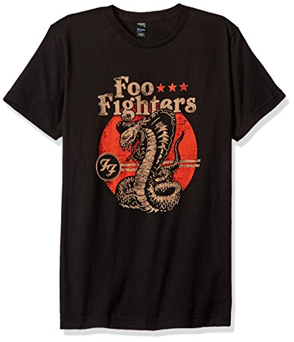 FEA Men's Foo Fighters Cobra Mens Soft T-Shirt, Black, (Foo Fighters Merchandise)