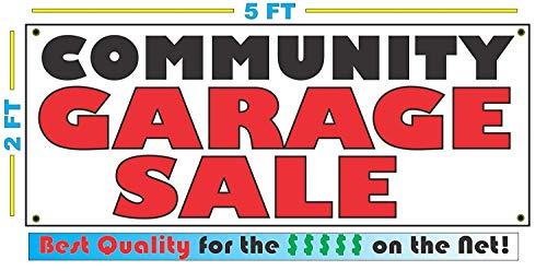 Community Garage Sale Banner Sign