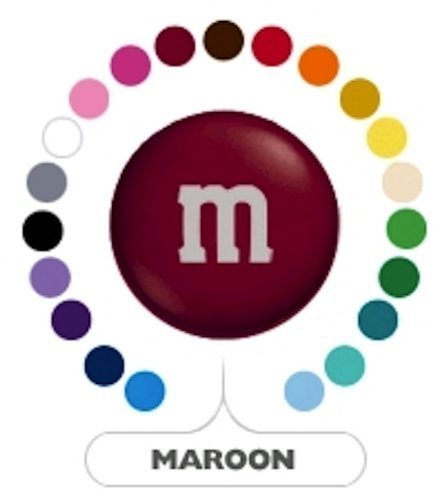M&M's Maroon Milk Chocolate Candy 1LB -